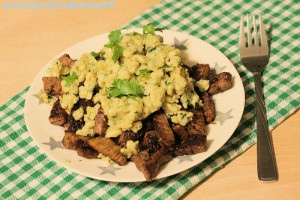 Bärlauch-Spätzle mit Rinderfiletstreifen von Kathys Küchenkampf