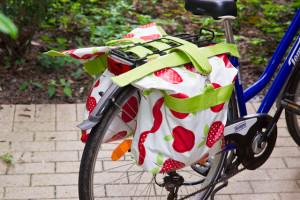 Selbstgenähte Fahrradtasche